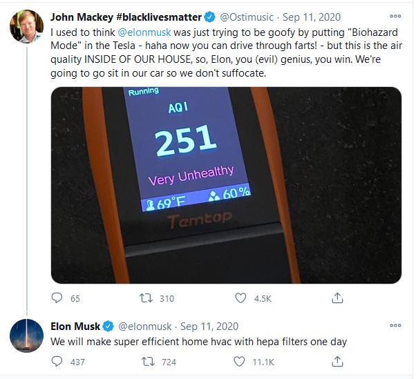Elon Musk HVAC tweet